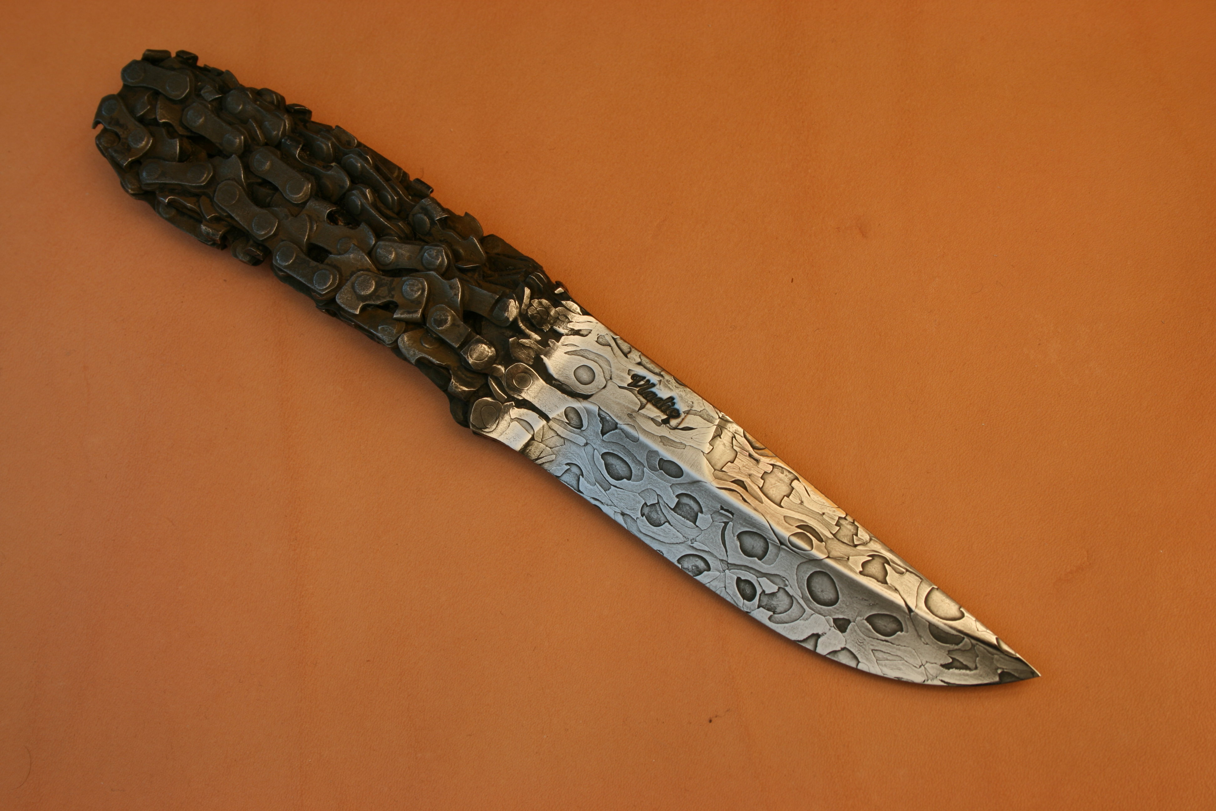 Как сделать нож из троса своими руками